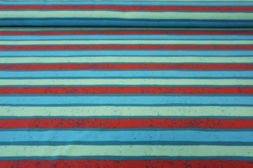 "Jerseystoff, ""Cool Boards-Stripes"", Blaubeerstern"